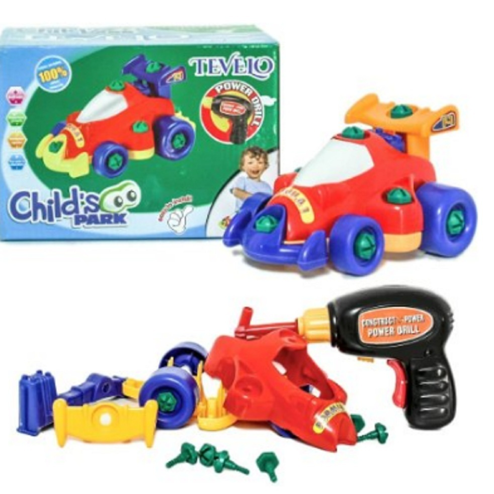RACE CAR a simple puzzle all-in-one! Take it apart, and scre... via michael jones