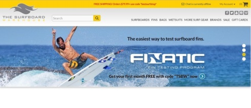 The Surfboard Warehouse is the largest online surf shop offe... via VictorBasu