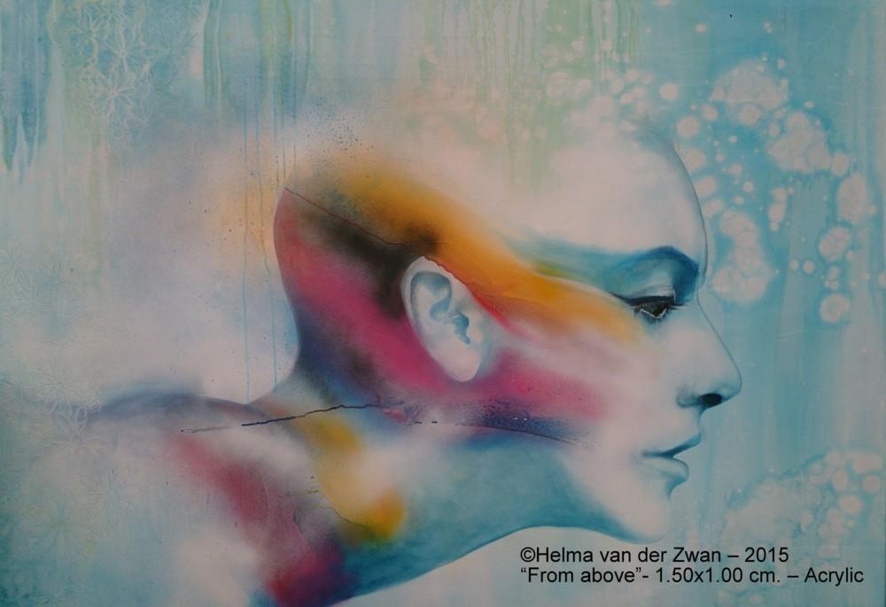 Titel:  From Above                                         Formaat: 100x150 cm                                         Materiaal: Hoogwaardi... via Helma van der Zwan