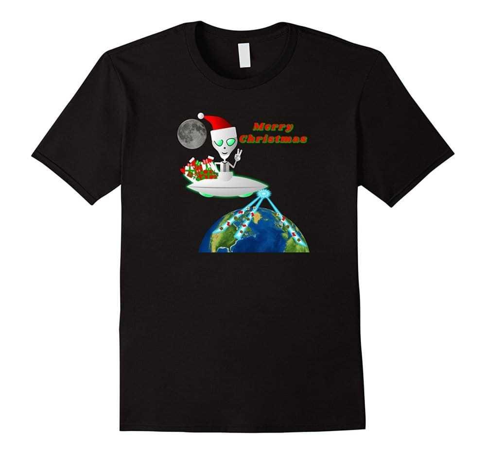 Have a very Alien #Christmas #tshirts Alien Clause riding #U... via Carl Sian