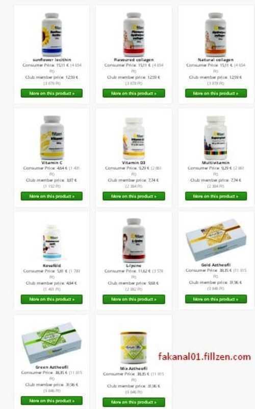 The Fillzen offers members a nutritional supplement product ... via Rácz László