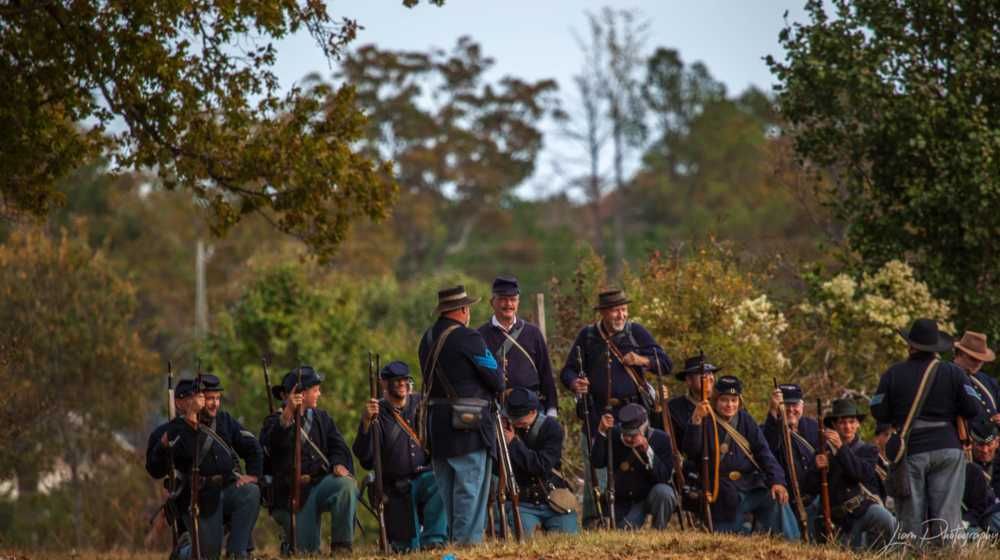 A larger group of Union Troops before the Battle in Hampton,... via Liam Douglas - Professional Photographer