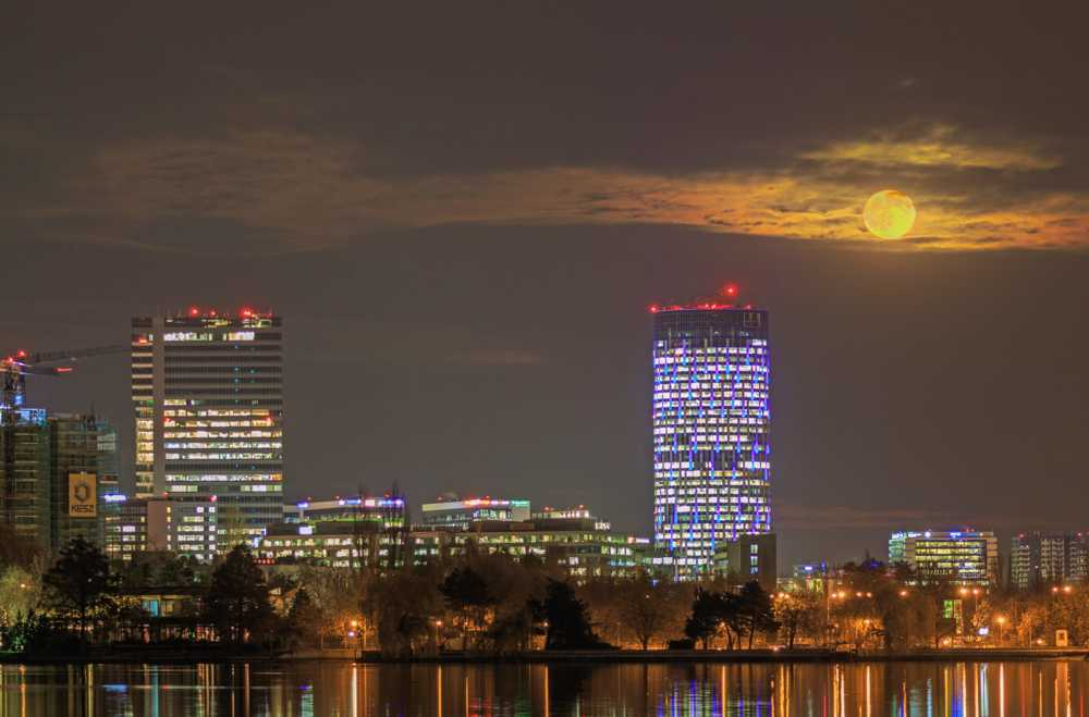 The November Supermoon                                          Daniel Nicolae                                         #supermoon #cityscape... via Daniel Nicolae