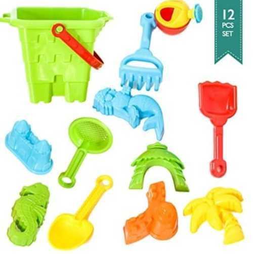 BIG Sand Bucket 12-Pcs Molds & Tools for Sand Boxes                                     The bath... via michael jones