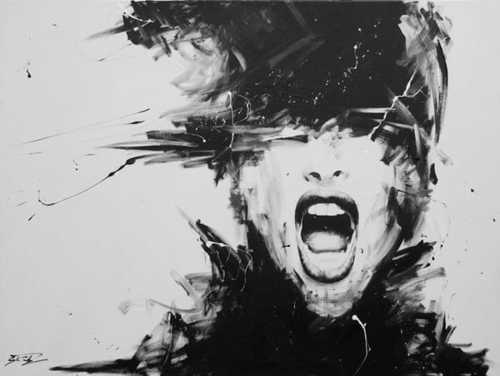 "Artist: David Scholes; Acrylic, 2012, Painting ""La obsesin"" via Barbara Fariña"