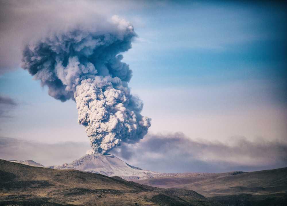 Volcano eruption in Peru.                                         #landscape via Boris Ulzibat