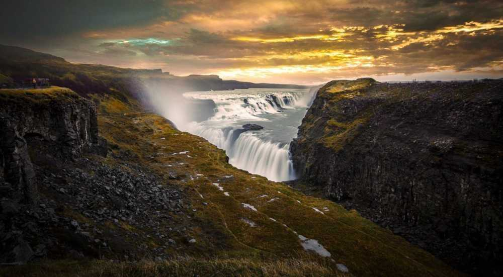 Gullfoss                                          This  waterfall is one of the most popular tourist... via Rolando Felizola