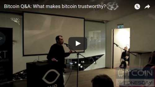 Bitcoin Q&A: What makes bitcoin trustworthy? via Colin Sydes
