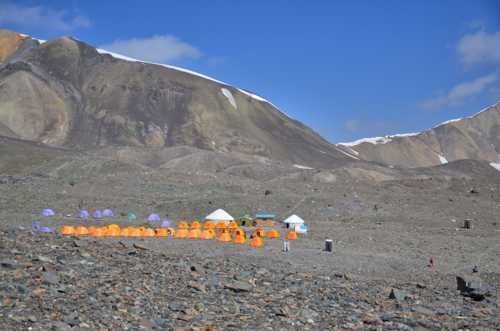 overnight a tent village formed.  We learned these were for ... via CozyLayers