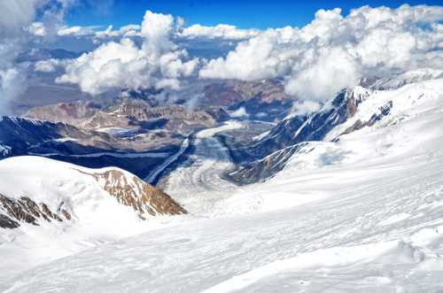#PikLenin #glacier                                     The view from 6400m.  Can see all the way... via CozyLayers