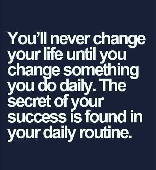 Secret of success is found in daily routine                                                                          #Quote via Colin Sydes