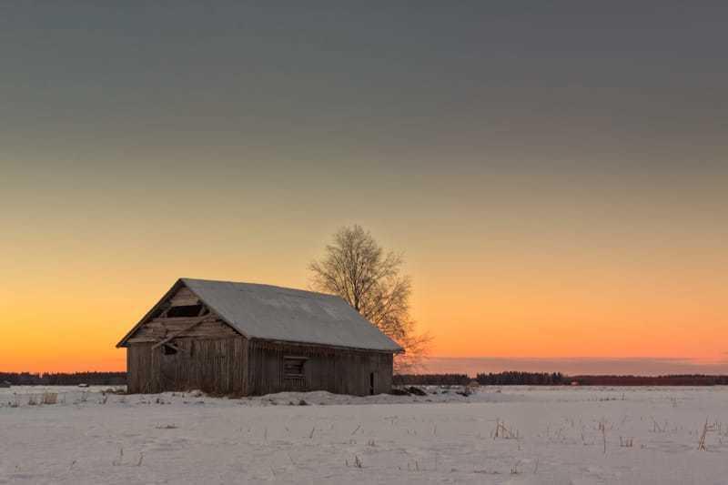 Midwinter Sunset On The Fields via Jukka Heinovirta